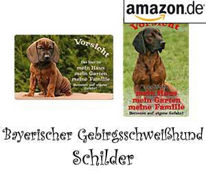 Bayerischer Gebirgsschweißhund Schilder