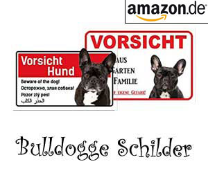 Bulldogge Schilder