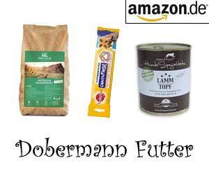 Dobermann Futter